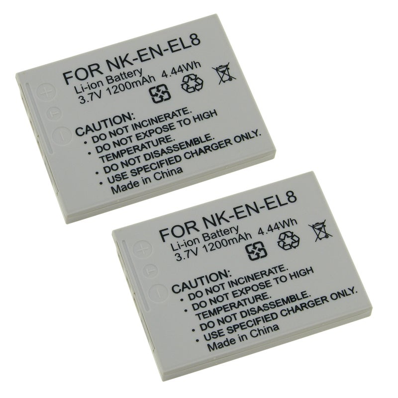 INSTEN Battery for Nikon EN-EL8 (Pack of 2)