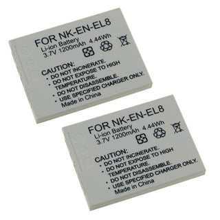 BasAcc Battery Compatible with Nikon EN-EL8 (Pack of 2)