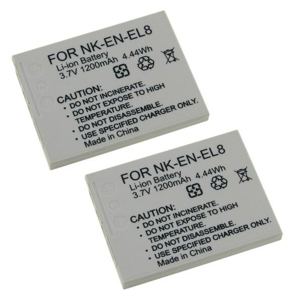 INSTEN Battery for Nikon EN-EL8 (Pack of 2)