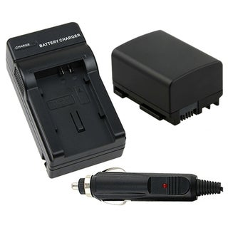 BasAcc Battery/ Chargers Compatible with Canon BP-808/ FS10/ FS100