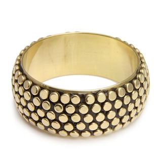 Black Brass Circle Bangle