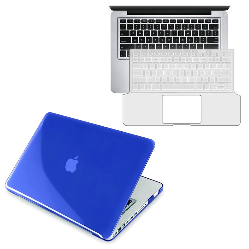 BasAcc Dark Blue Case/ Keyboard Skin for Apple MacBook Pro 13-inch