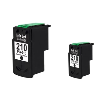 BasAcc Canon PG-210 Black Ink Cartridge for Canon Pixma MX350/ MP495 (Remanufactured) (Pack of 2)