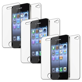 BasAcc Screen Protector for Apple iPhone 4/ 4S (Pack of 3)