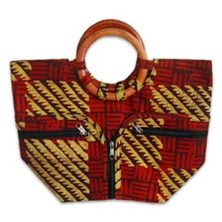 Cotton Handcrafted 'African Forest' Batik Handbag (Ghana)
