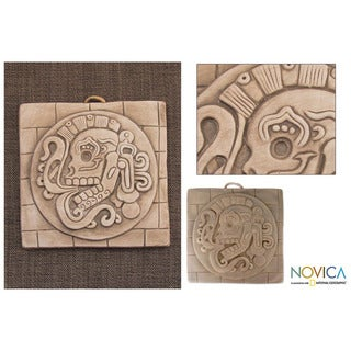 Ceramic 'Beige Chichen Itza Skull' Plaque (Mexico)