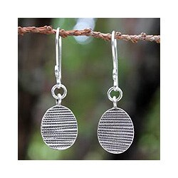 Sterling Silver 'Thai Textures' Earrings(Thailand)