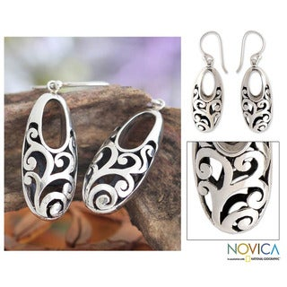 Sterling Silver 'Karangasem Castle' Earrings (Indonesia)