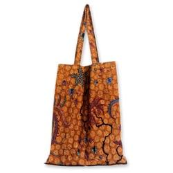 Cotton 'Madura Legacy' Batik Foldable Tote Bag (Medium) (Indonesia)