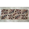 'Flower and Leaf' Siapo Bark Cloth Art (Samoa)