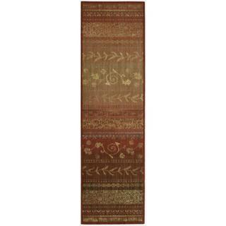 Nourison Liz Claiborne Radiant Impression Assorted Pattern Crimson Red Rug (2'3 x 8')