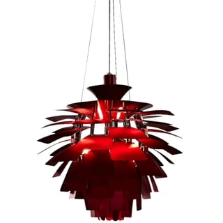 LexMod Red 28-inch Modern Chandelier Lamp