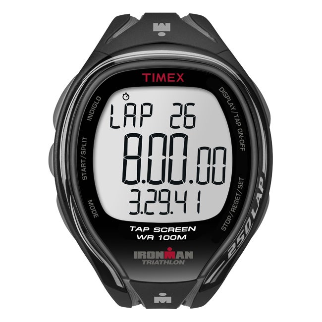 Timex Men's T5K588 Ironman Sleek 250-Lap TapScreen Black/Grey Watch