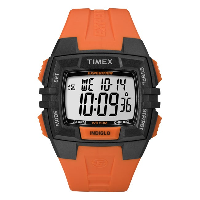 Timex Men's T49902 Expedition Rugged Wide Digital CAT Black/Orange Watch