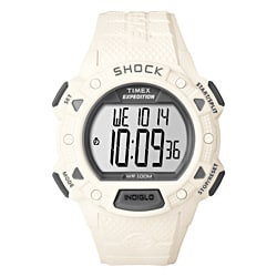 Timex Men's T49899 Expedition Rugged Shock Digital CAT All White Watch