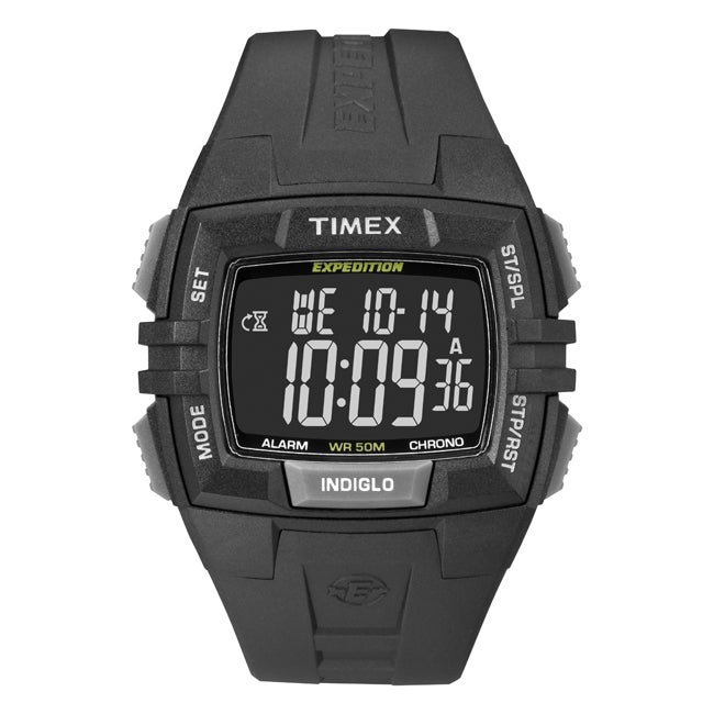 Timex Men's T49900 Expedition Rugged Wide Digital CAT All Black Watch