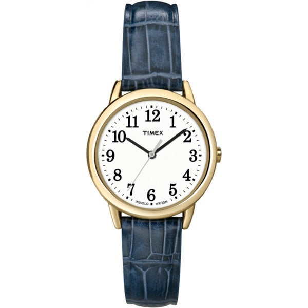 Timex Women's T2N954 Elevated Classics Dress Goldtone Case Leather Strap Watch 9757558
