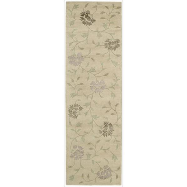 Nourison Hand-tufted Oasis Scattered Floral Natural Rug (2'3 x 8')