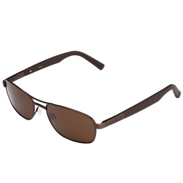 Bolle Men's 'Avenue' Brown Satin Metal Aviator Sunglasses