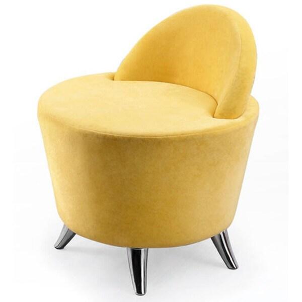 Yellow Microfiber Groovy Leisure chair