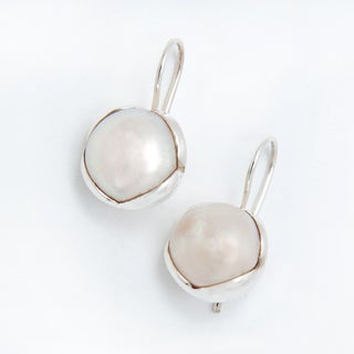 Handmade Sterling Silver Freshwater Pearl Earrings (India)