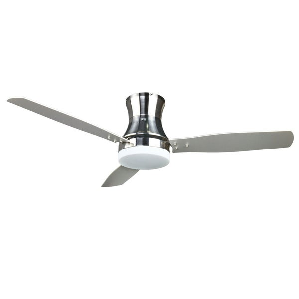 Contemporary 52-inch Ceiling Fan in Nickel
