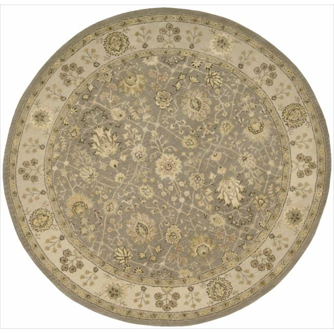 Nourison 3000 Hand-tufted Taupe Rug (6 x 6) Round