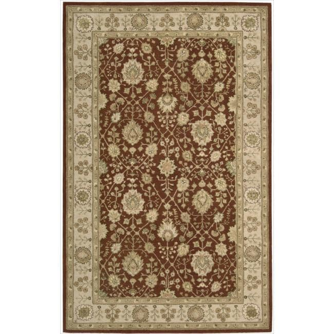Nourison 3000 Hand-tufted Rust Wool Rug (5'6 x 8'6)