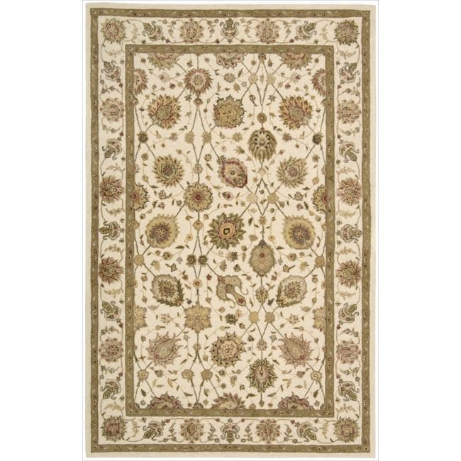 Nourison 3000 Hand-tufted Ivory Rug (5'6 x 8'6)