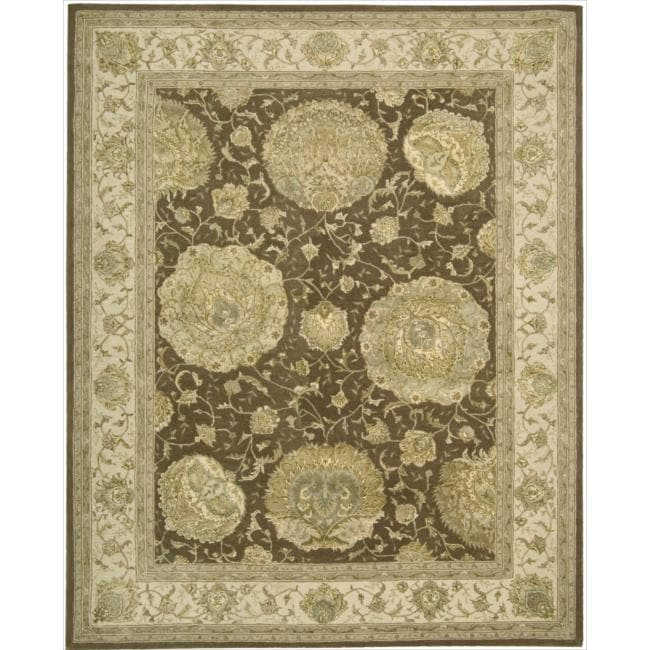 Nourison 3000 Hand-tufted Brown Rug (5'6 x 8'6)