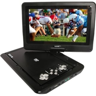 "Azend MDP1008 Portable DVD Player - 10.1"" Display - Red"