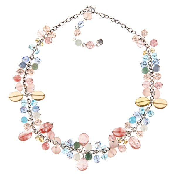 Carolee Crystal Mixed Beads Charm Necklace