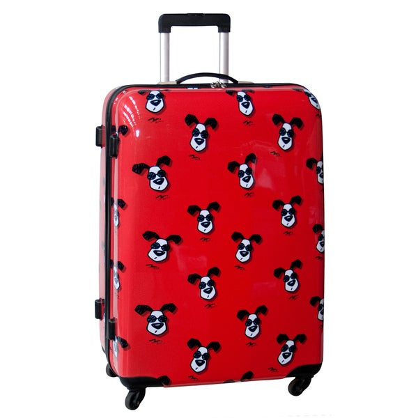 Ed Heck Looking Cool Red 28-inch Hardside Spinner Upright Suitcase