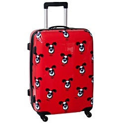 Ed Heck Looking Cool Red 25-inch Hardside Spinner Upright Suitcase