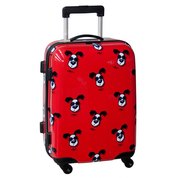 Ed Heck Looking Cool Red 21-inch Hardside Carry On Spinner Upright