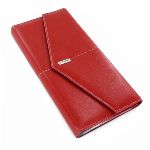Rolodex Red Business Card Book