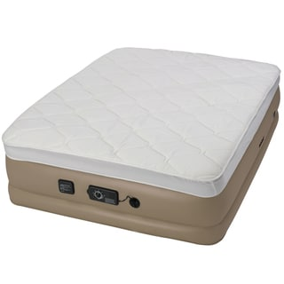 Instabed Raised Pillow Top Queen-size Airbed with NeverFlat Pump