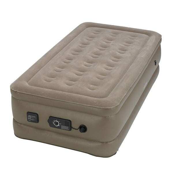 InstaBed Raised Twin-size Airbed with Never Flat Pump