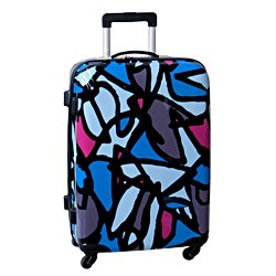 Ed Heck Scribbles Blue 25-inch Hardside Spinner Upright Suitcase