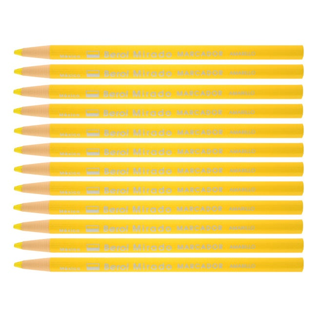 Berol Mirado Yellow China Markers Grease Pencils (Pack of 12)