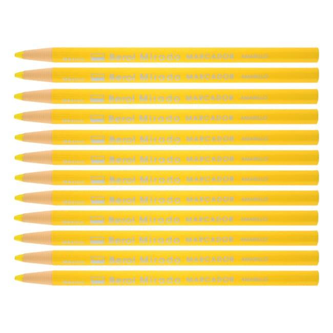 Berol Mirado Yellow China Markers Grease Pencils (Pack of 12)