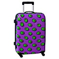 Ed Heck Olives Purple 25-inch Hardside Spinner Upright Suitcase