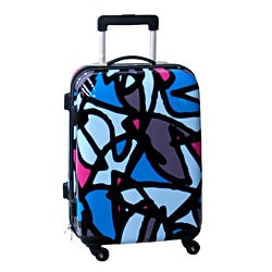 Ed Heck Scribbles Blue 21-inch Hardside Carry On Spinner Upright