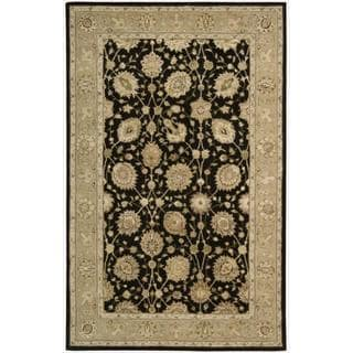 Nourison 3000 Hand-tufted Black Rug (5'6 x 8'6)