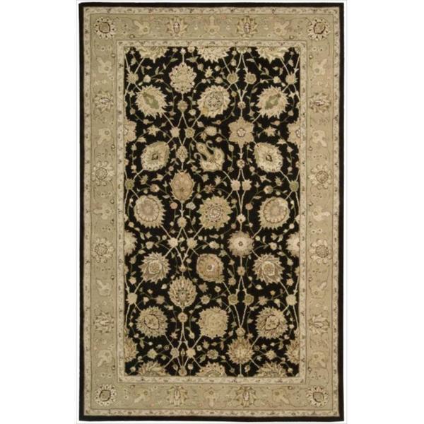 Nourison 3000 Hand-tufted Black Rug (5'6 x 8'6)