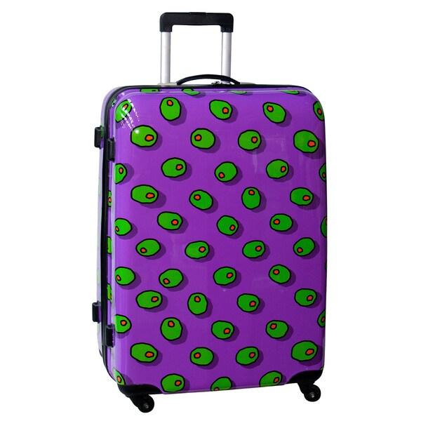 Ed Heck Olives Purple 28-inch Hardside Spinner Upright