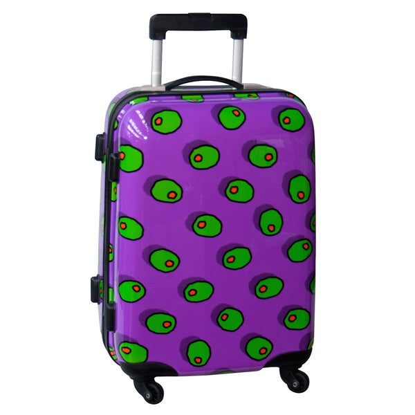 Ed Heck Olives Purple 21-inch Hardside Spinner Carry On Upright