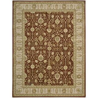 Nourison 3000 Hand-tufted Rust Wool Rug (8'6 x 11'6)