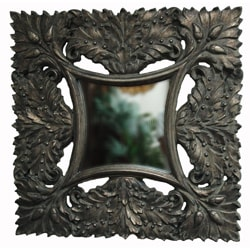 Bronze Traditional Decorative Square Framed Mirror