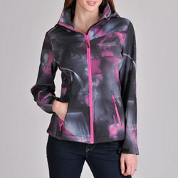 Hawke & Co. Women's Soft Shell Abstract Printed Front Zip Jacket